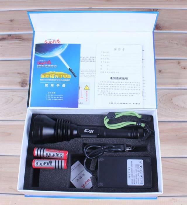 SupFire X6 hunting torch light with 1200 lumens waterproof flashlight