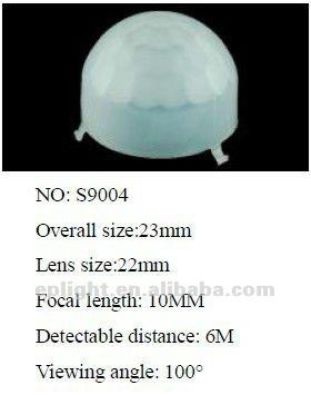 Capteur pir lentille de fresnel, Lentille en plastique pour infrarouge motion sensor