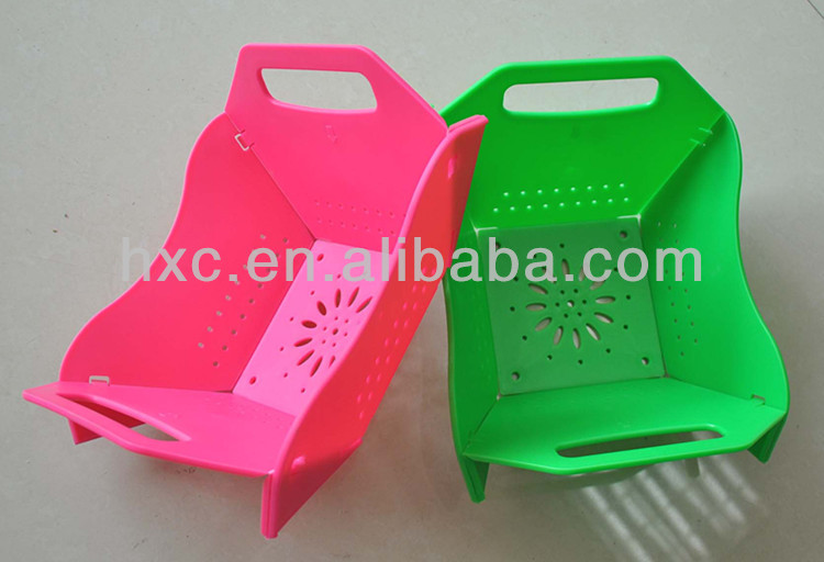 foldable plastic food tray size H15CM/5.85ft