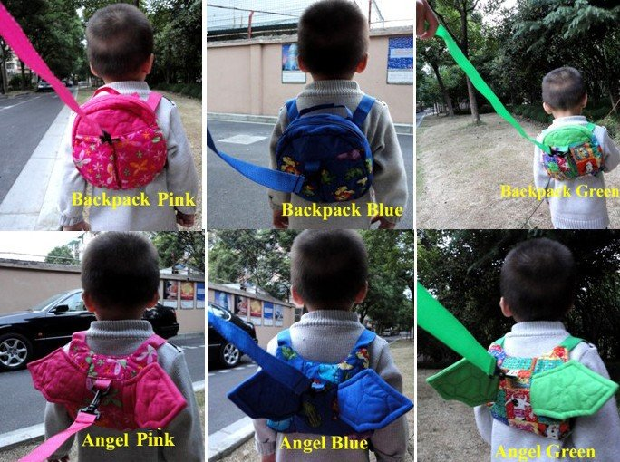 Newest--Baby/Child/Kids/Toddler/Infant Safety Safe Security Harness Backpack Strap Rein Belt Leash Bag--6 Patterns