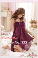 Женские ночные сорочки и Рубашки Cute princess belt sexy sleep skirt, Bud silk pajama, night skirt