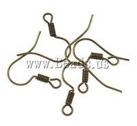 Застежки для ювелирных изделий Iron Hook Earwire, Womens, antique bronze color plated, nickel, lead & cadmium free, 17x17x2mm