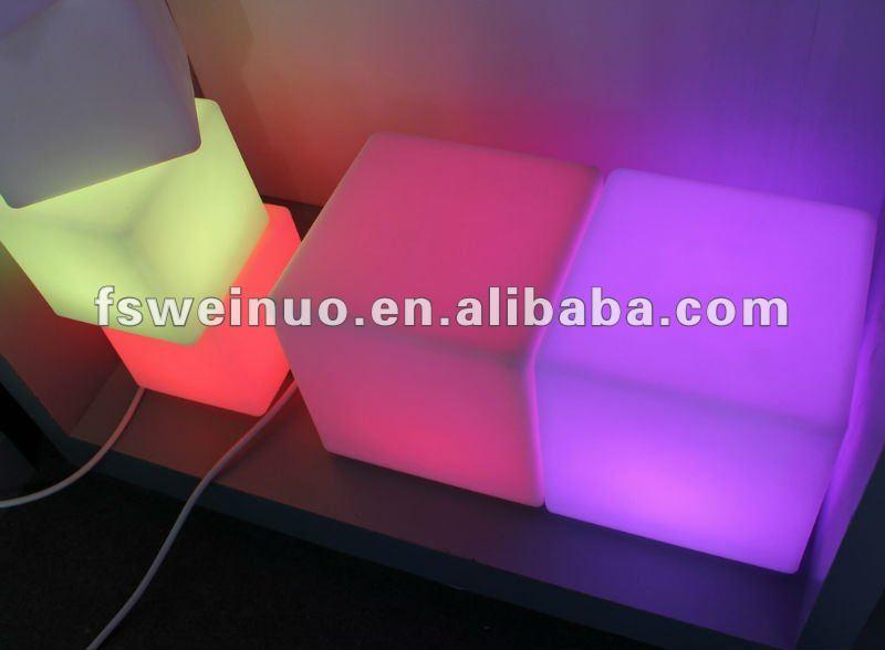 lighting plastic led cube square shaped lamp