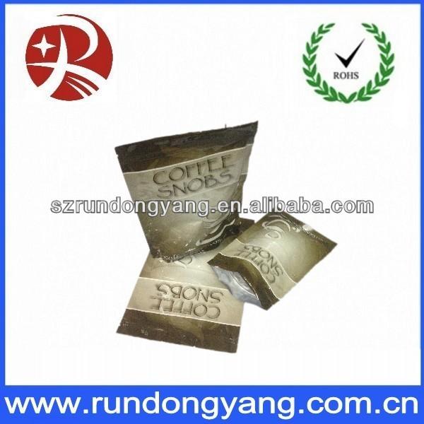Resealable custom printed plastic aluminum foil coffee bag