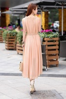 Женское платье Solid Plus size Gowns New Fashion Women Spring Summer Autumn Mid-Calf A-Line Sleeveless Dress 4203