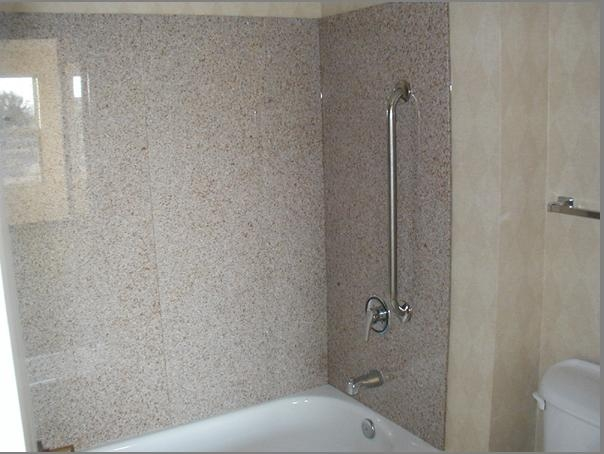 Hotel Cast Stone Bathtub Shower Surround (Shower Panels)