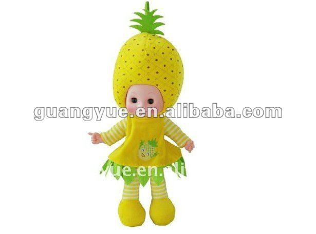"GY96714 20"" Fashion eyes will closed automatic when it lying down ,the doll with sweet smell fruit baby doll"