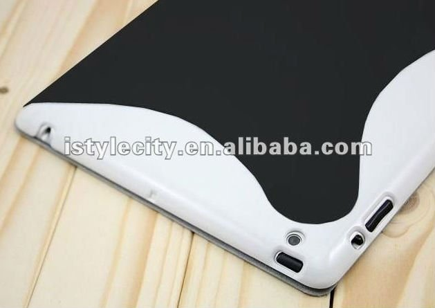 Spider Magnetic Leather case for iPad 3 with Hard Back Case