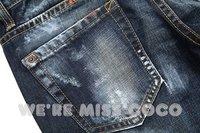 New Coming Black Distrressed Bandhnu 9-length Skinny Jeans For Ladies Women