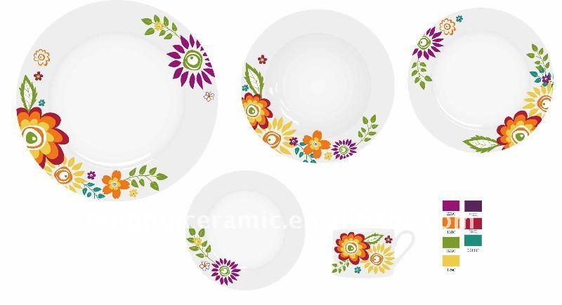Vaisselle 20 pcs moderne porcelaine de vaisselle lots de for Fournisseur vaisselle restaurant