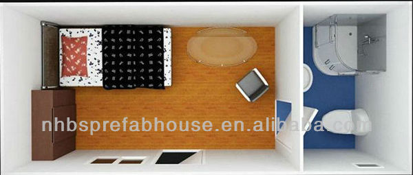 prefab 20ft container house portable container office