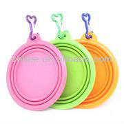 Foldable Silicone Travel dog Bowl