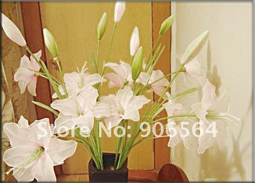 White color mesh flowers,nylon stocking material for DIY flower,20pcs/lot free shipping