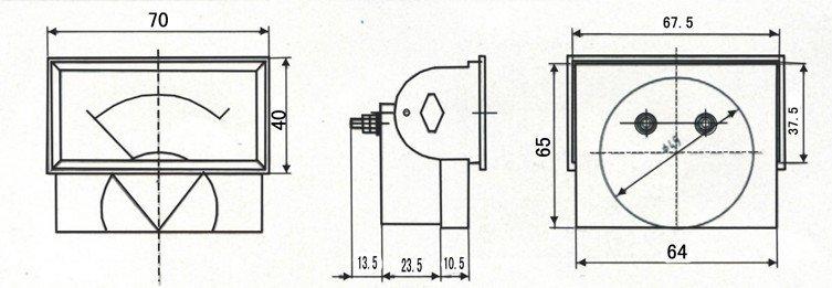 85T1 ammeter panel meter