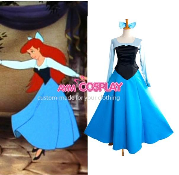 Little Mermaid Blue Dress Costume Blue Dress Cosplay Costume