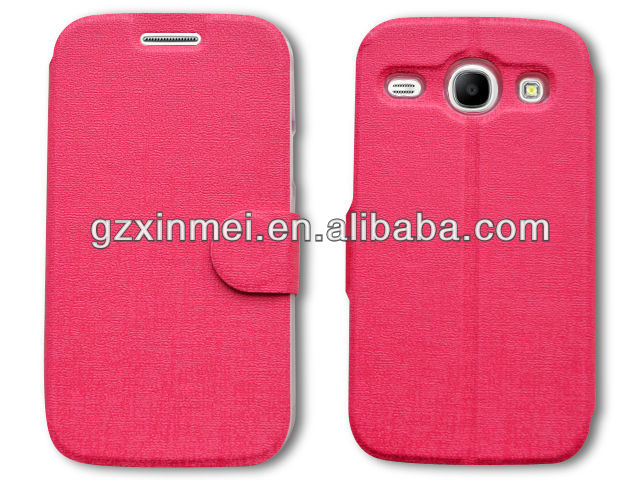cellphone leather case for samsung galaxy core i8260 i8262