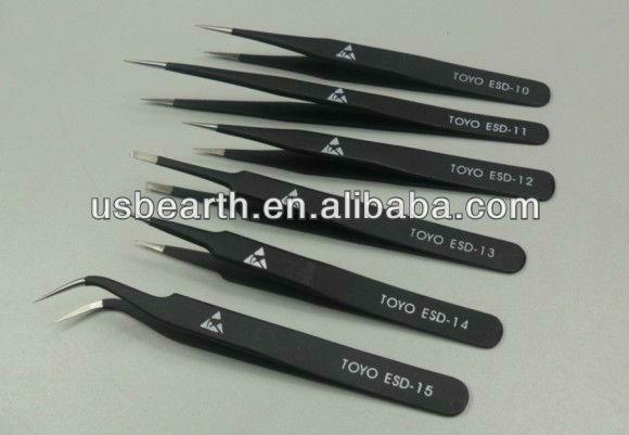 Wholesale BGA tools Toyo bga tweezers 6 pcs/set, TOYO ESD-10, ESD-11, ESD-12, ESD-13, ESD-14, ESD-15