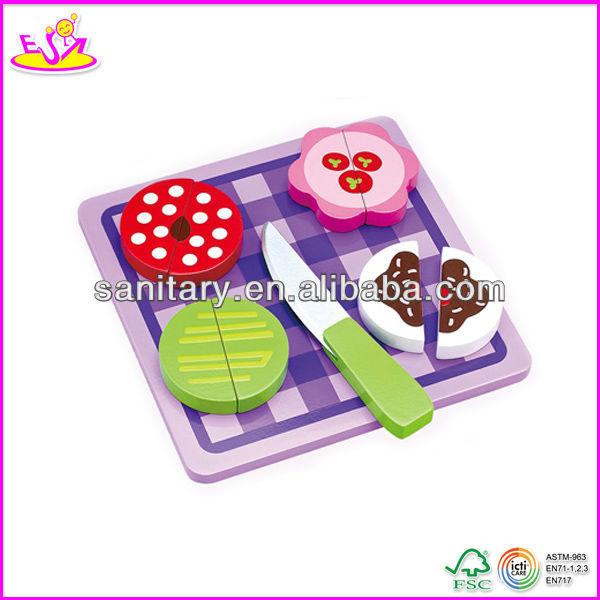 2015 Novo de madeira fingir brinquedo geladeira brinquedo para as crianças, bonito de madeira finja brinquedo para crianças, role play toy fingir brinquedo para o bebê wj278667