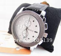 Наручные часы AW001# Lost Money Sale! Black Leather Men's wrist Watch men Sports Watch