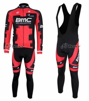 High Quality BMC Winter Thermal Fleece Long Sleeved Cycling Jersey + Pants 3627
