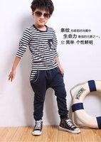 Комплект одежды для мальчиков 5sets/lot 2012 autumn boy leisure suits sets