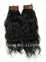 Шиньон на клипсах Brazilian virgin Hair Extention Mixed length, 100% human hair weave, 1B natual color, 100g