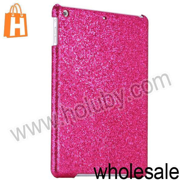 Ultra thin Light Glitter Powder Studded Hard PC Skin Case for iPad Air