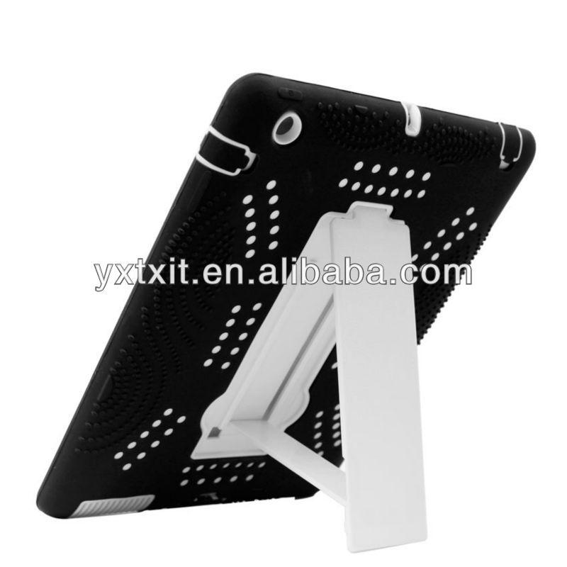Hybrid Case for Apple iPad 4 iPad 3 iPad 2 Heavy Duty & Hard Silicone with Stand