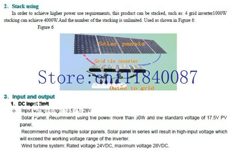 Special offer!  Grid tie inverter for wind turbine  300W 10.5-28VDC