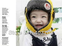 Free shipping! 2012 Fashion Winter Warm Hats For Children Ear Protectors Caps Kids Earflap Cap Bomber Hats 6648