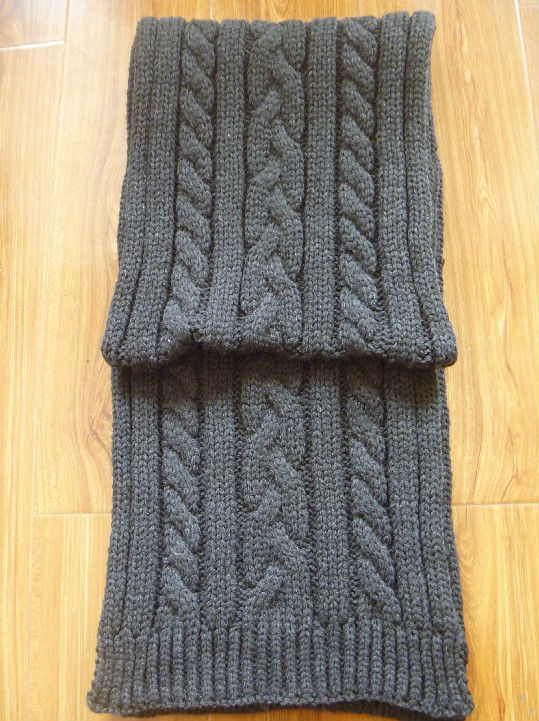 acrylic knitted scarf for men