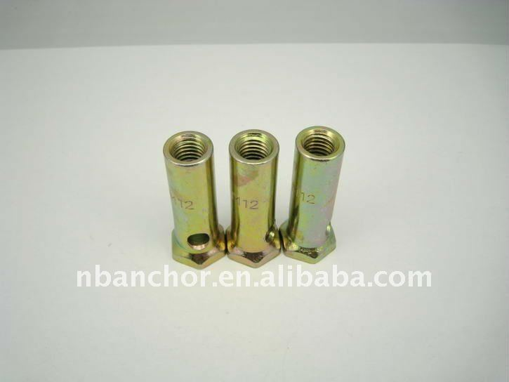 M12X55 YZP 45# Steel Round Long Nut