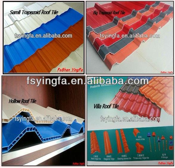 asphalt shingle, tile, plastic roof tile
