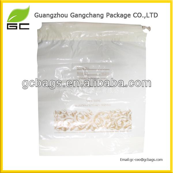 Mini order drawstring clear plastic bag