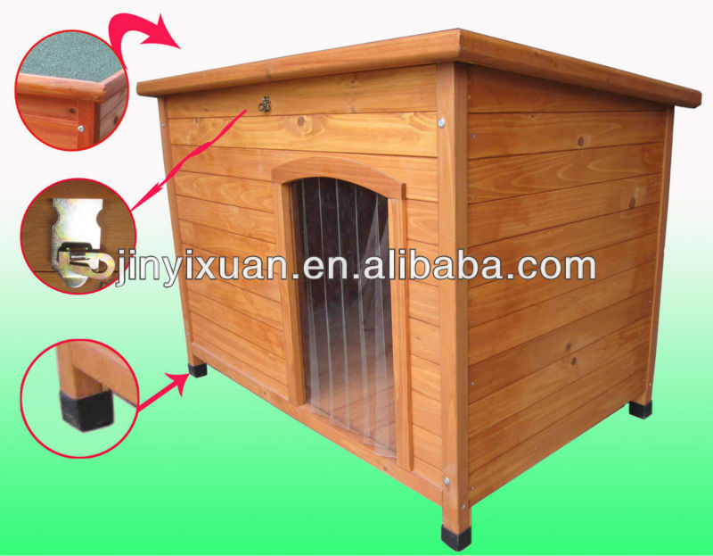 Hot sales! Handmade wooden dog kennel with door curtain / Cool dog house