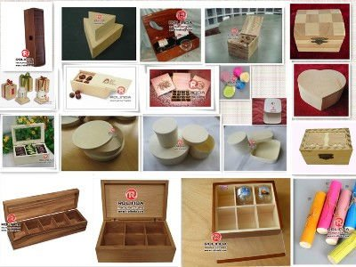 wooden tea or coffee chest