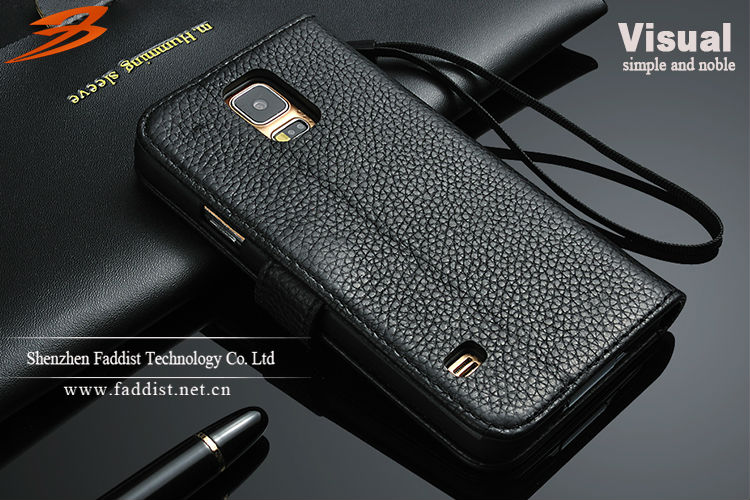 Commercial case leather flip case for Samsung s5 Hot