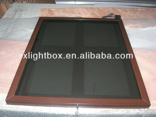 2014 hot sale magic mirror light box/aluminum frame