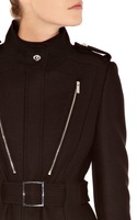 amazing design slim wool coat for women wholesale knee-length long white out wear wool coat