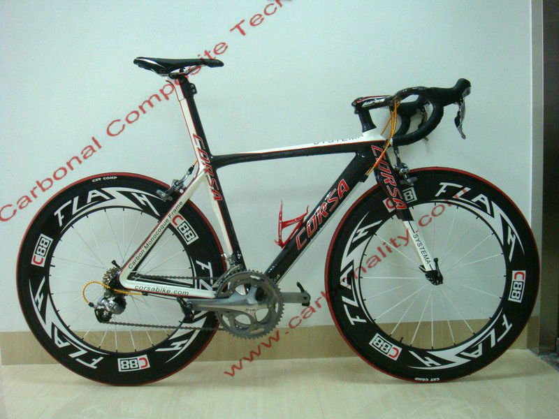 Lightweight T700c 1k carbon Corsa road racing bike