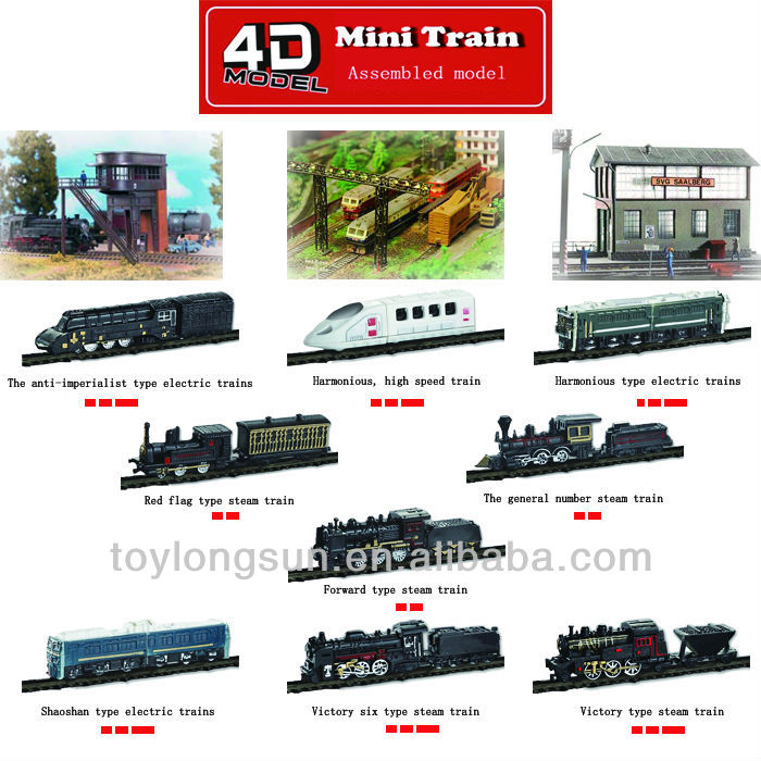 2013 Plastic Assembly Toy Train Plastic Toys For Kids