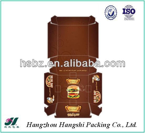 burger box packaging template 2