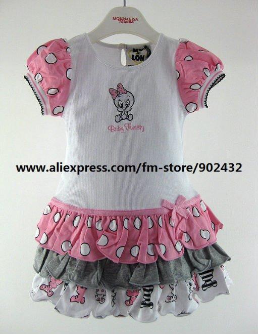 Monnalisa Baby girl Tweety Ruffle Dress 635903