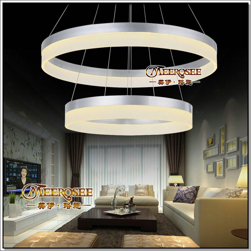 Suspension moderne anneau led pendentif lumi re pour salon - Lumiere salon decoration ...