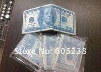 Кошелек 4pcs/lot 100 DOLLAR BILL MONEY WALLET Geek Man Wallets