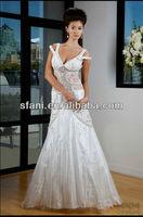 NET-069 2013 New Arrival Sexy V-neck A-line Handmake Beads Crystal Arab Evening Dress
