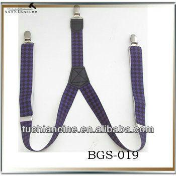 Jacquard straps Y Shape Mens elastic Suspender