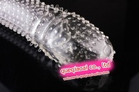 retail QUE0510, silicone condoms, sex toy for men, penis extend sleeve