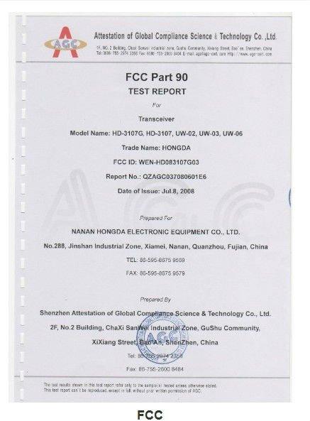 VHF UHF FM Transceiver Handy Radio Walkie Talkie(HD-3107G FCC Certification)