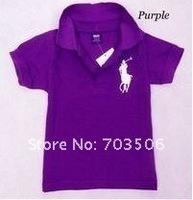 Футболка для девочки 2013 summer kids polo t shirt, children pure color short sleeve T-shirt, boys and girls 100%net cotton sport t shirts